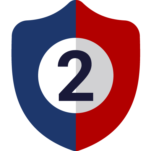 number 2 shield icon